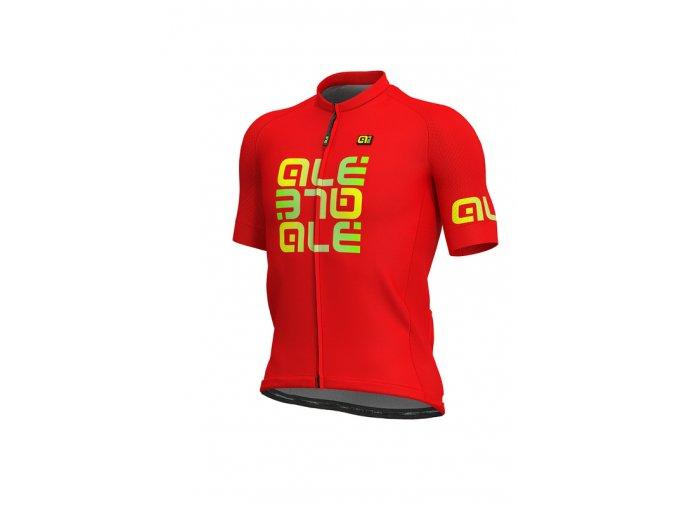 Letní cyklistický dres ALÉ SOLID  MIRROR