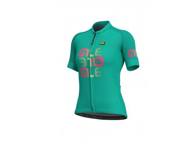 Letní cyklistický dres ALÉ SOLID  MIRROR LADY