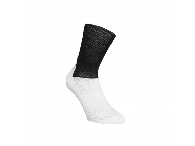 Cykloponožky POC Essential Road Socks Uranium Black/Hydrogen White