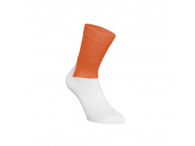 Cykloponožky POC Essential Road Socks Zink Orange/Hydrogen White