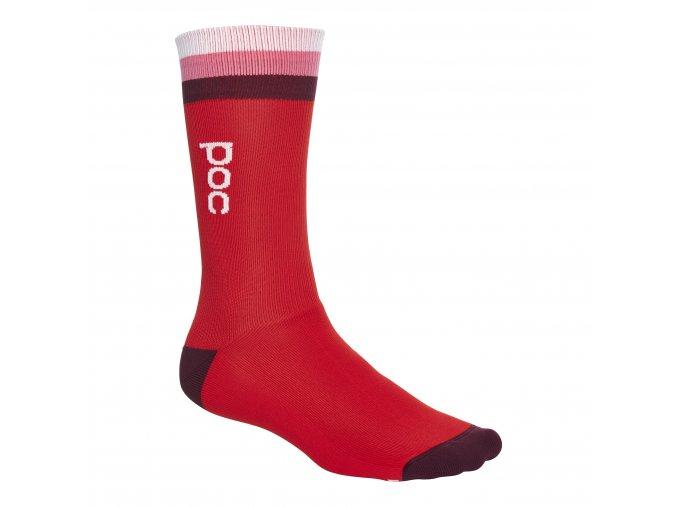 Cykloponožky POC Essential Mid. Lenght Sock - Prismane Multi Red