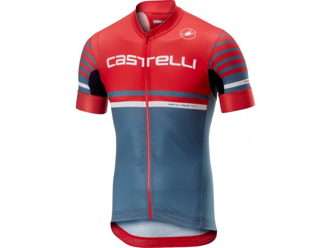 Castelli - pánský dres Free Ar 4.1, red/light st. Blue