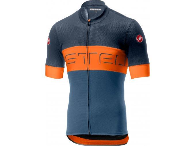 Castelli - pánský dres Prologo VI, dark blue/orange