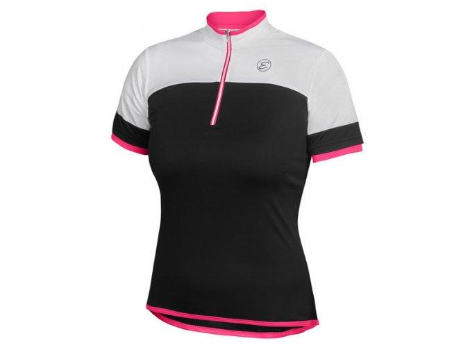 Etape - dámský dres CLARA, černá/růžová