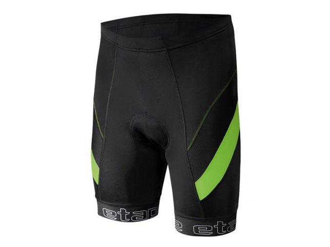 Etape - pánské kalhoty PROFI PAS s vložkou, černá/zelená