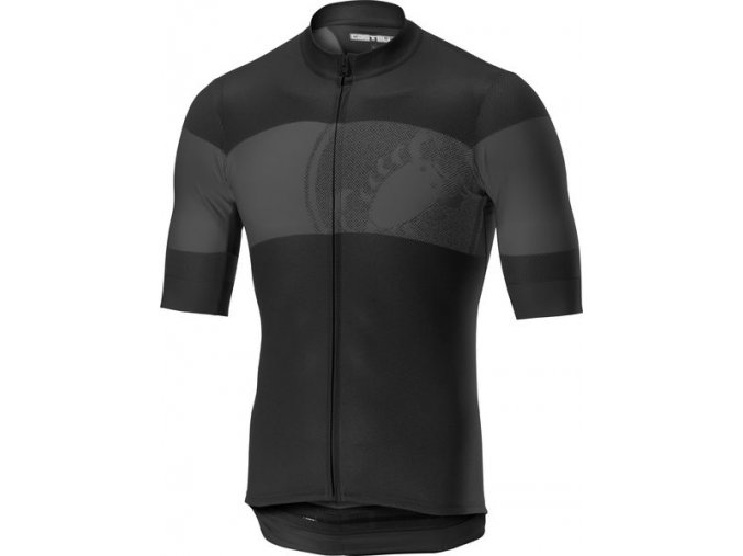 Castelli – pánský dres Ruota, light black