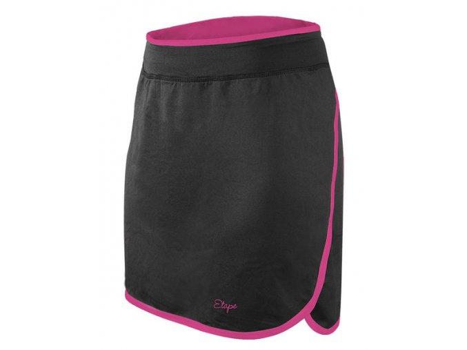 Etape - sukně LAURA, černá/růžová