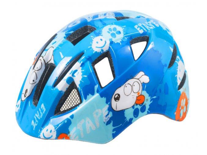 Etape - dětská přilba na kolo KITTY, modrá