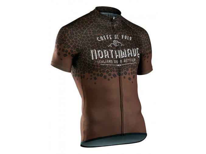 Cyklodres NORTHWAVE Caffe Al Volo Jersey Short Sleeves Brown