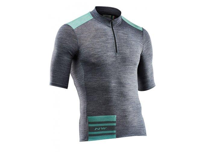 Cyklodres NORTHWAVE Epic Jersey Short Sleeves Black Melange