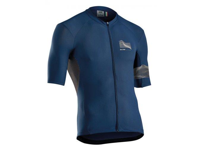 Cyklodres NORTHWAVE Extreme3 Jersey Short Sleeves Blue