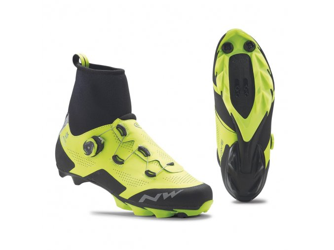 Cyklotretry NORTHWAVE Raptor Arctic GTX, Yellow Fluo/Black - zateplené