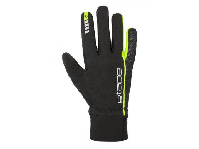 Etape – rukavice PEAK WS+, černá žlutá fluo