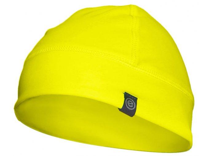 Etape - čepice SKULL, žlutá fluo