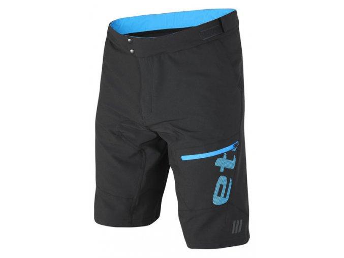 Etape - pánské volné kalhoty FREERIDE, černá/modrá