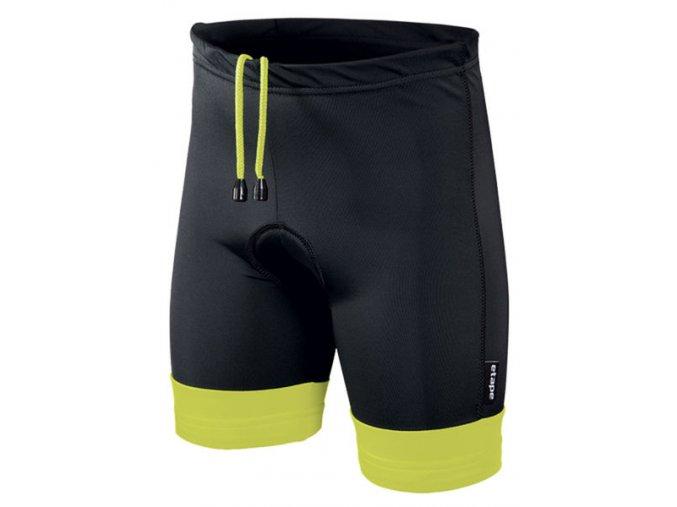 Etape - dětské kalhoty JUNIOR s vložkou, černá/žlutá fluo