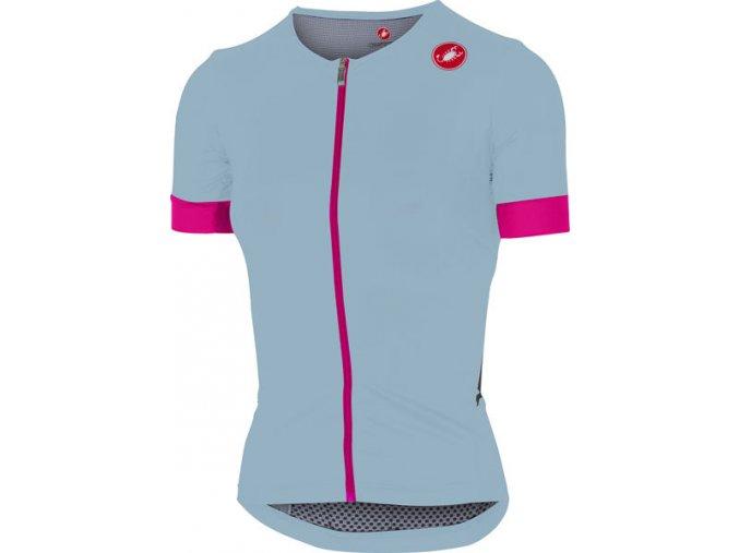 Castelli - dámský dres Free Speed Race, pale blue/pink