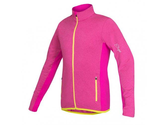 Etape - dětský dres BONO, růžová melír/limeta