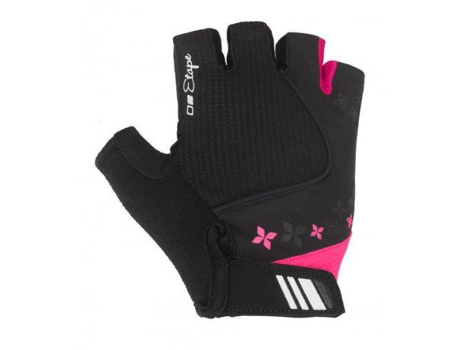 Etape - dámské rukavice AMBRA, černá/růžová