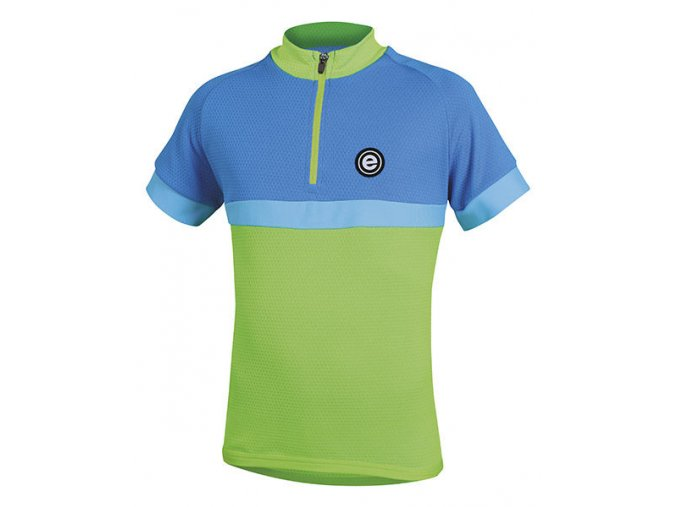 Etape - dětský dres BAMBINO, zelená/modrá