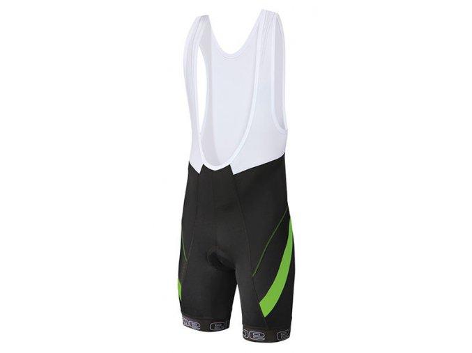 Etape - pánské kalhoty PROFI LACL s vložkou, černá/zelená