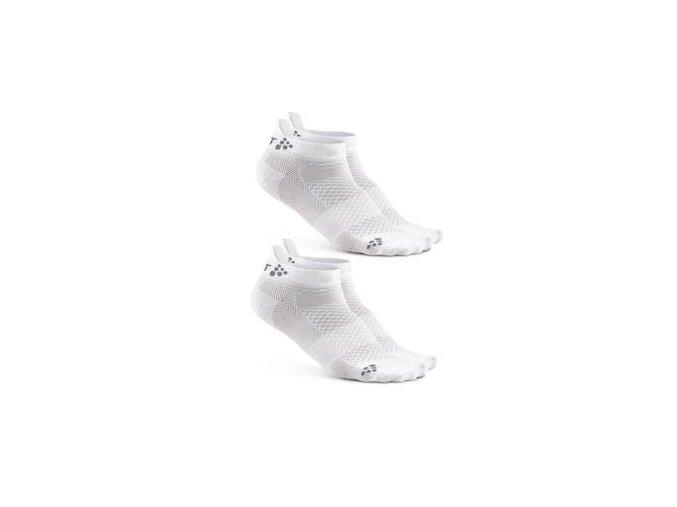 Ponožky CRAFT Shaftless 2-pack bílá 34-36