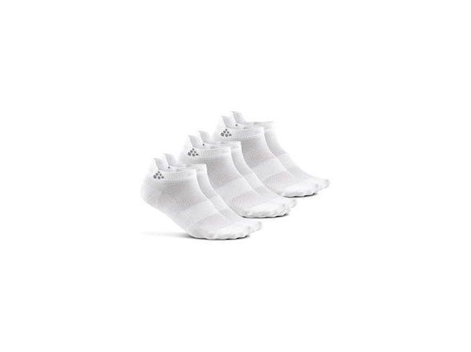 Ponožky CRAFT Shaftless 3-pack bílá 34-36