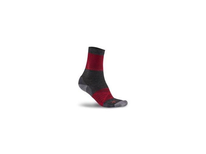 Ponožky CRAFT XC  Warm červená s černou 34-36