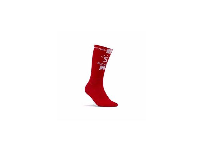 Ponožky CRAFT Sunweb Bike červená 43-45