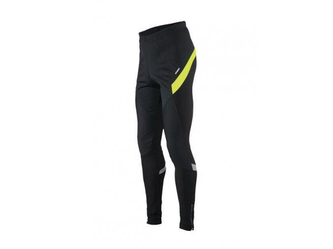 Etape - pánské kalhoty SPRINTER WS PAS bez vložky, černá/žlutá fluo