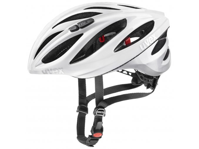 20 UVEX HELMA BOSS RACE, WHITE-SILVER