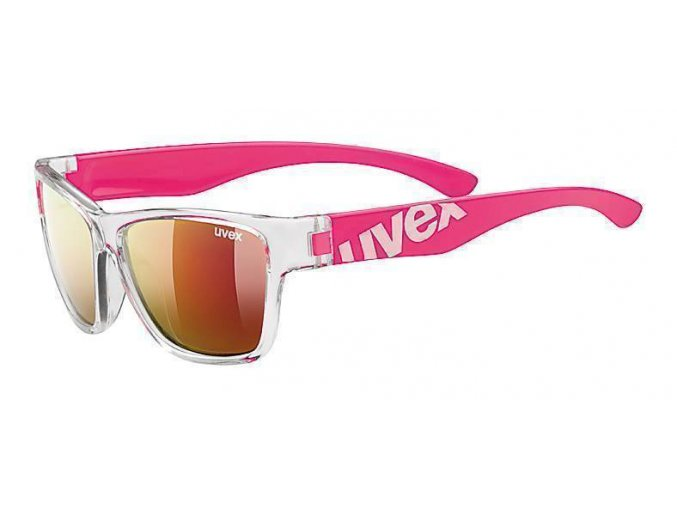 20 UVEX BRÝLE SPORTSTYLE 508 CLEAR PINK/MIR. RED (9316)