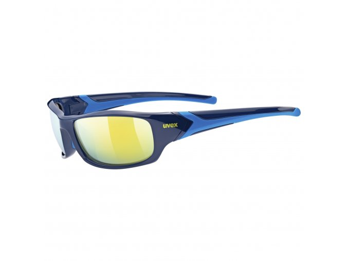 20 UVEX BRÝLE SPORTSTYLE 211, BLUE MIRROR YELLOW (4416)