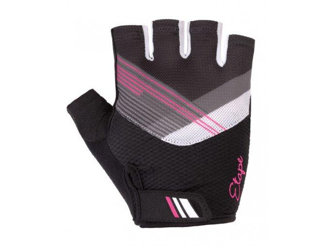 Etape –rukavice LIANA, černá růžová