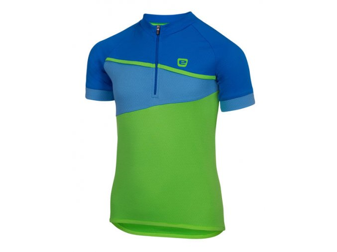 Etape – dětský dres PEDDY, zelená|modrá