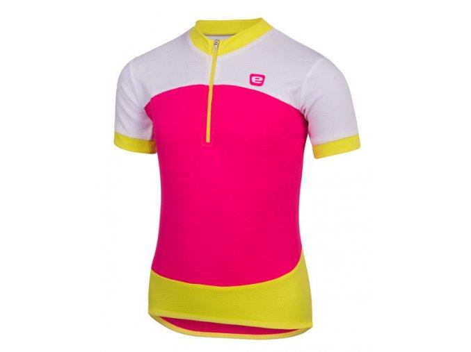 Etape – dětský dres PEDDY, růžová|limeta