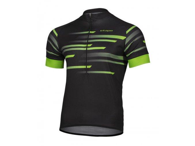 Etape – pánský dres ENERGY, černá|zelená