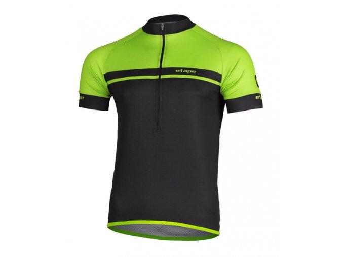 Etape – pánský dres DREAM, černá|zelená