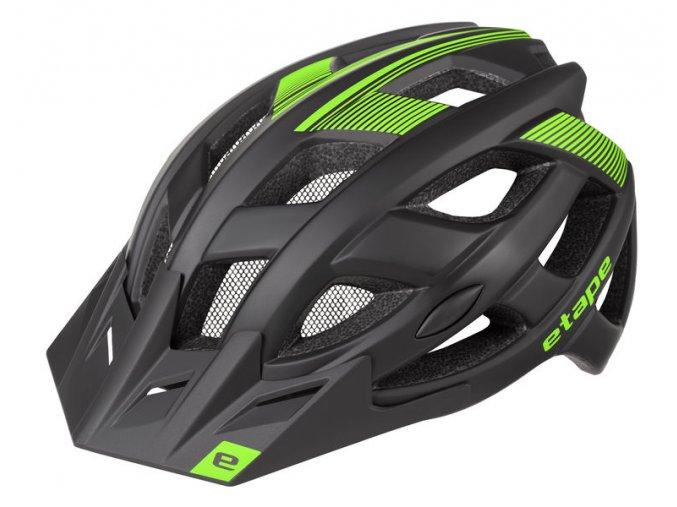 Etape – cyklistická přilba ESCAPE, černá zelená mat
