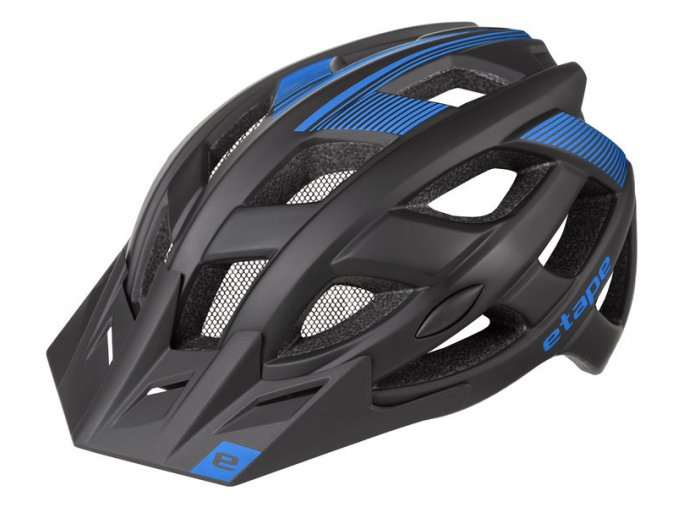 Etape – cyklistická přilba ESCAPE, černá|modrá mat