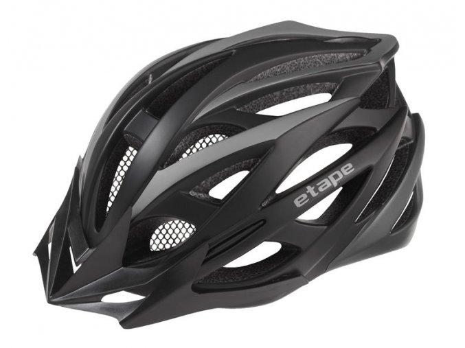 Etape – cyklistická přilba MAGNUM, černá|antracit mat