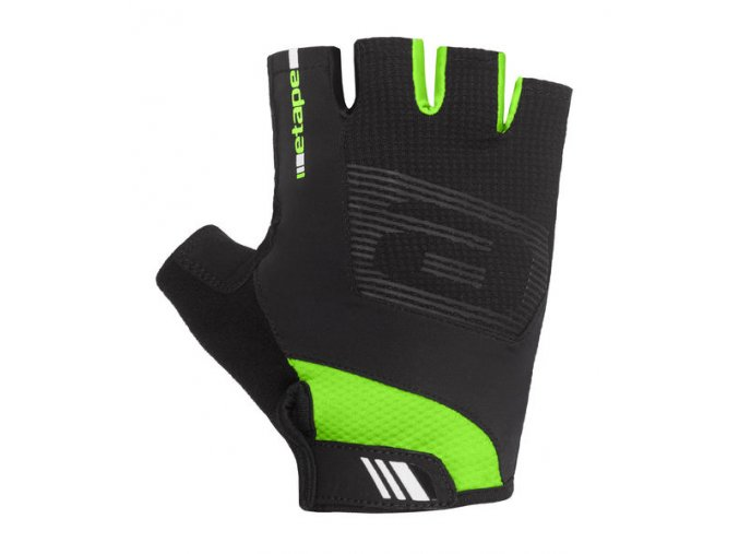 Etape – rukavice GARDA, černá|zelená