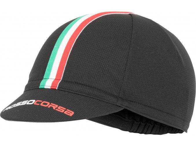 Castelli - funkční čepice Rosso Corsa, black