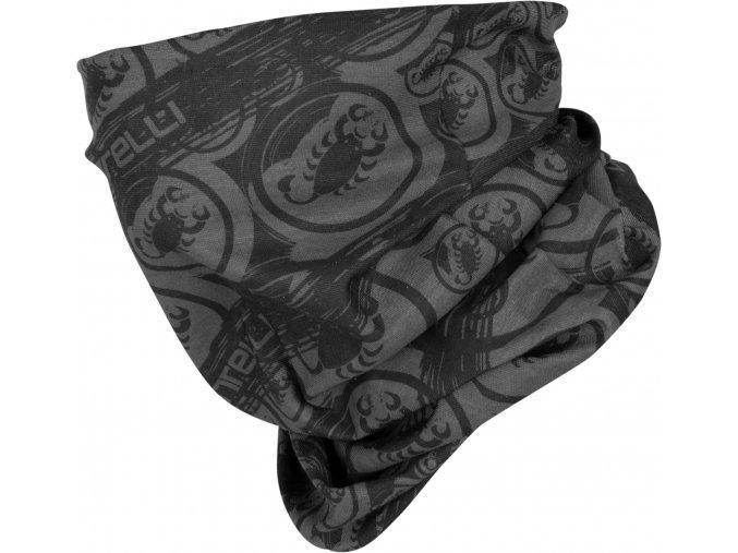 Castelli - nákrčník Light Head Thingy, black/dark grey