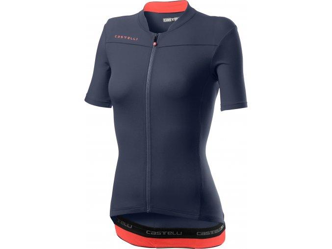 Castelli - dámský dres Anima 3, dark stell blue/pink