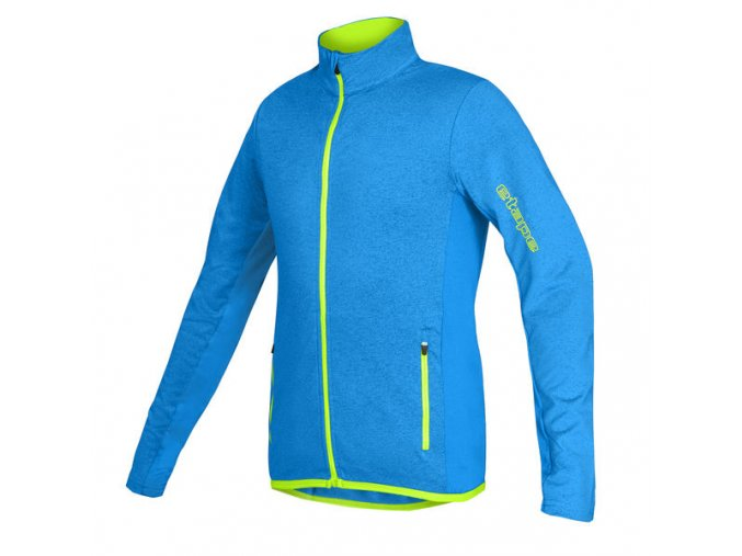 Etape - dětský dres BONO, modrá melír/žlutá fluo