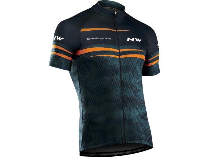 Cyklodres NORTHWAVE Origin Jersey Short Sleeves, blue/orange