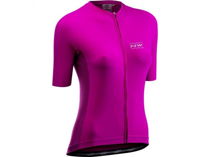 Cyklodres NORTHWAVE Allure Jersey Short Sleeves Cyclamen - dámský