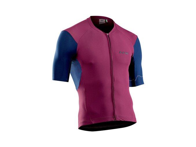 Cyklodres NORTHWAVE Extreme 4 Jersey Short Sleeves Bordeaux/Blue