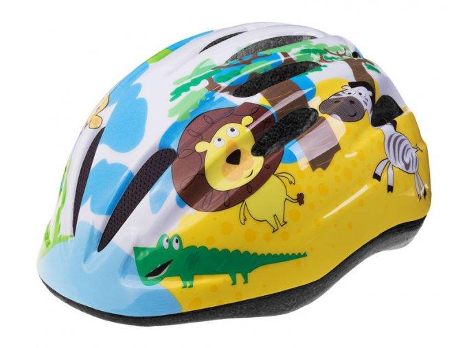 Etape – dětská přilba na kolo REBEL, žlutá|modrá